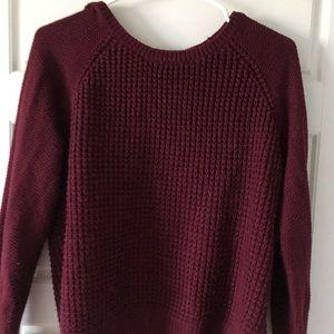 Forever 21 burgundy sweater